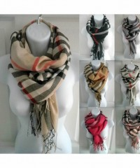 PLAID/CHECK Pashmina Long Soft Scarf Stole Wrap Shawl Cape